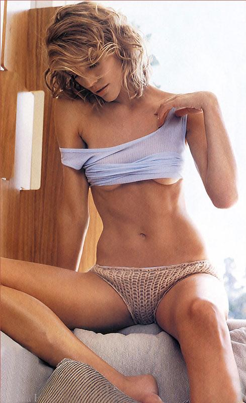 Tricia helfer in lingerie