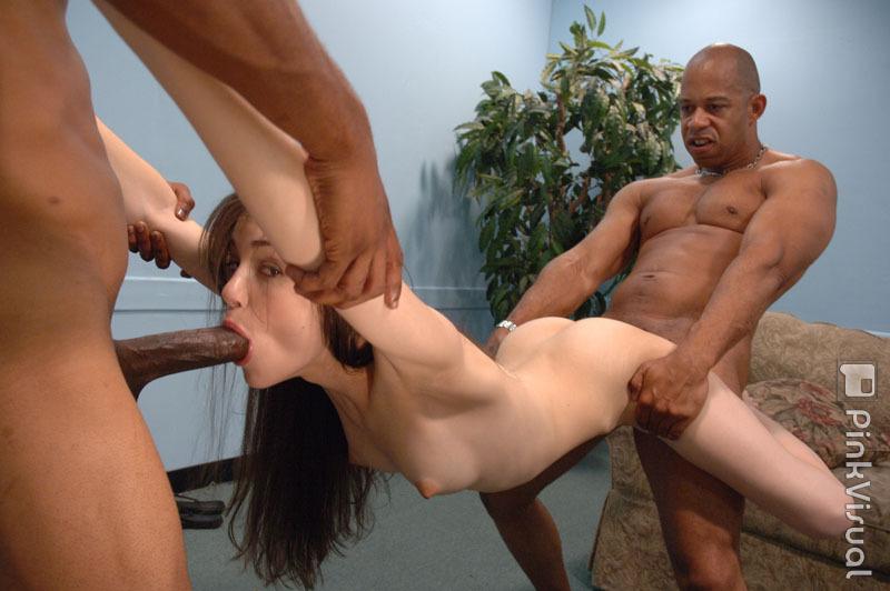 Oiled tit massage