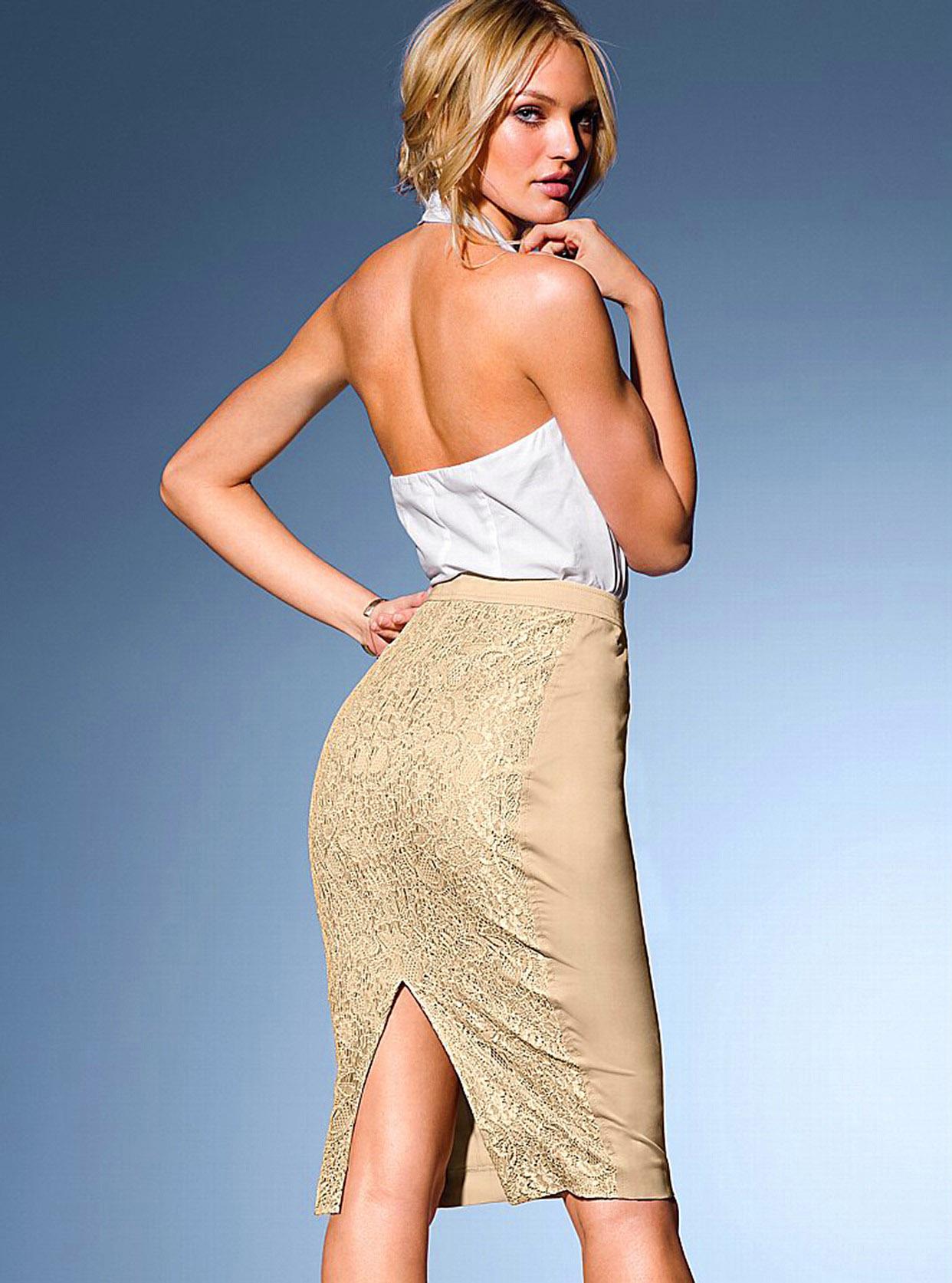 Юбки с разрезом чулки фото женщины 10 фотография
